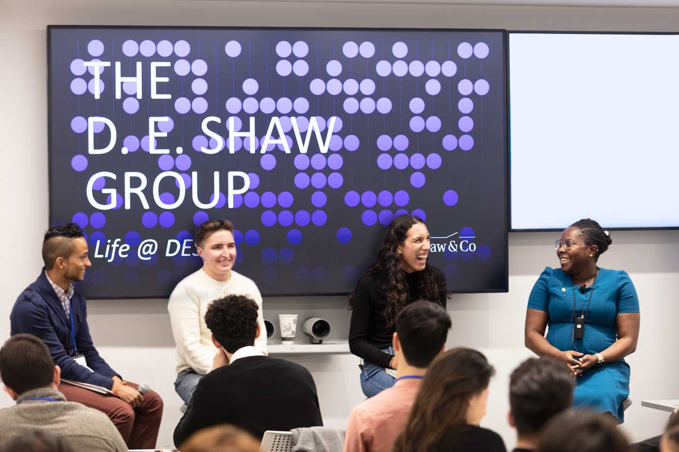 A diverse panel of employees talk about life at the D. E. Shaw group.