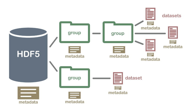 Hierarchical Data Format (HDF5) Dataset (From https://www.neonscience.org/about-hdf5)